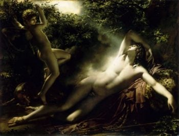 The Sleep of Endymion | Anne Louis Girodet de Roussy Trioson | oil painting