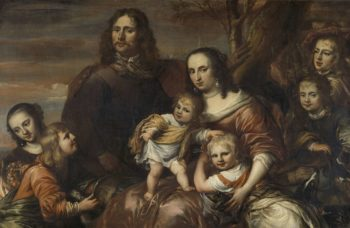 A couple with six children. 1650 - 1678 | J?rgen Ovens | oil painting