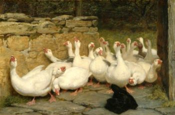 An Anxious Moment | Briton Riviere | oil painting