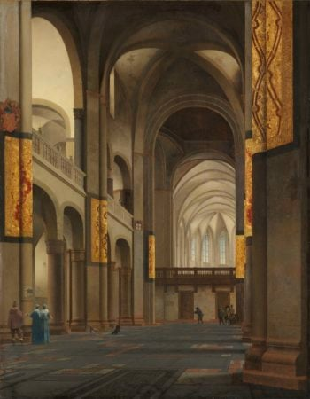 The Nave and Choir of the St. Mary's Church in Utrecht. 1641 | Pieter Jansz. Saenredam | oil painting