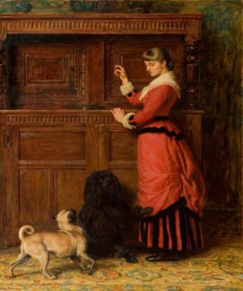 Cupboard Love | Briton Riviere | oil painting