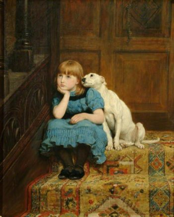 Sympathy | Briton Riviere | oil painting