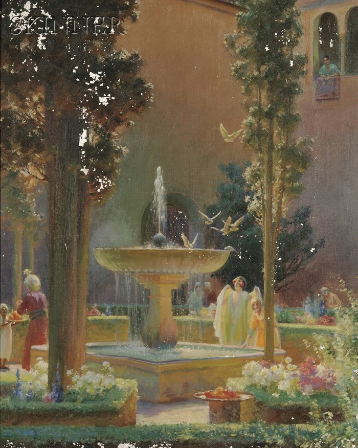 A Moorish Garden Alhambra | Charles Courtney Curran | oil painting
