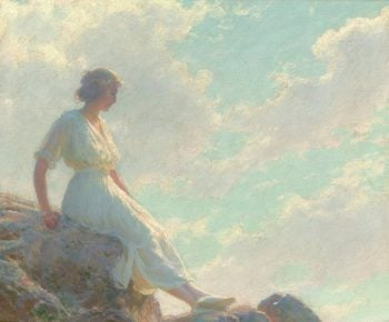 A Seat on the Summit | Charles Courtney Curran | oil painting