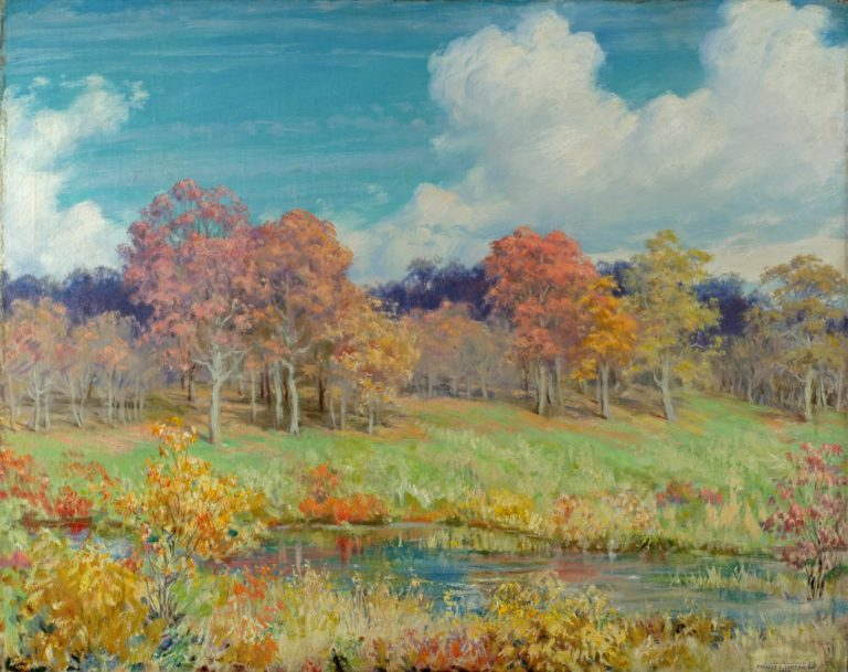Autumn Landscape | Charles Courtney Curran | oil painting
