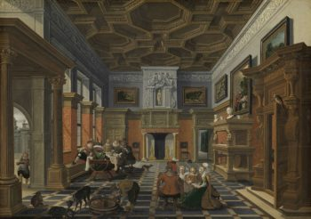 Interior with a Company. 1622 - 1624 | Bartholomeus van Bassen | oil painting