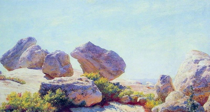 Boulders on Bear Cliff | Charles Courtney Curran | oil painting
