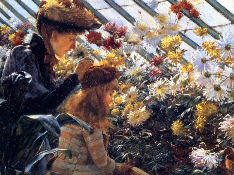 Chrysanthemums | Charles Courtney Curran | oil painting