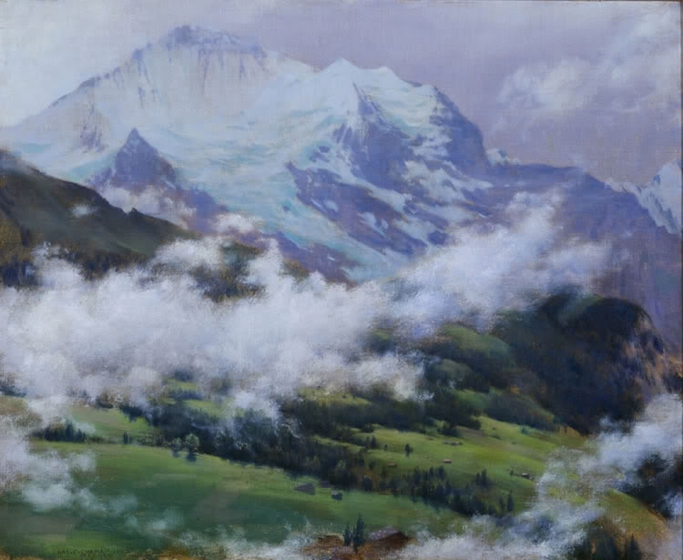 Clouds Over Wengen | Charles Courtney Curran | oil painting