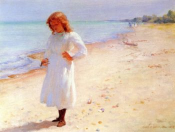Collecting Seashells | Charles Courtney Curran | oil painting