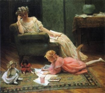 Dollys Portrait | Charles Courtney Curran | oil painting