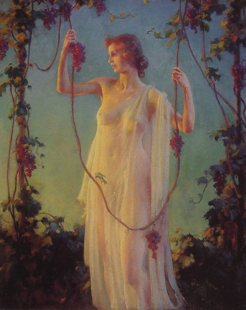 Fall Sunshine | Charles Courtney Curran | oil painting