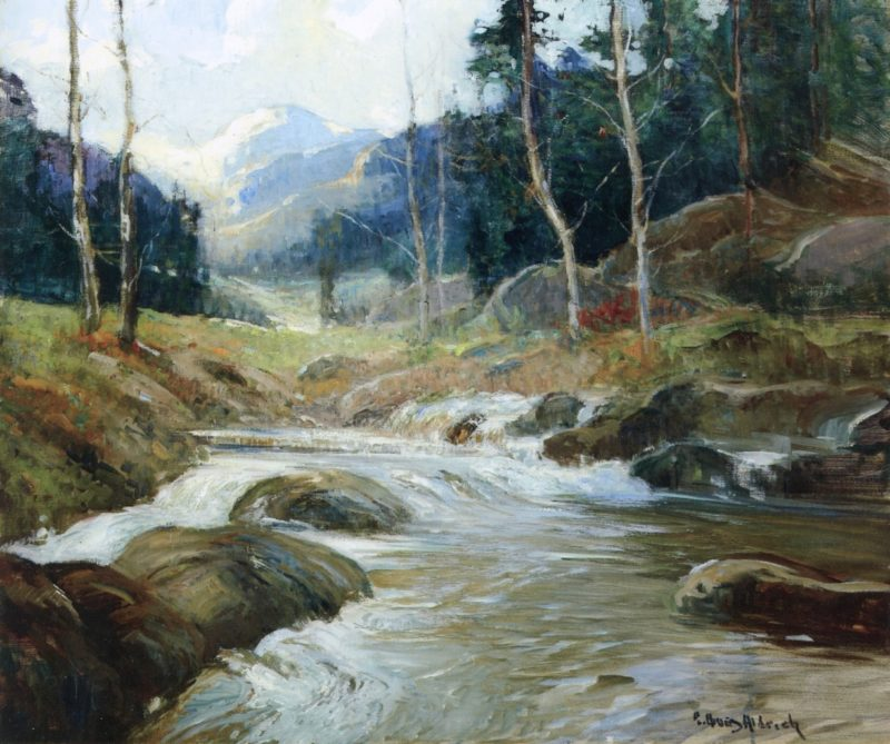 Mountain River No 1 | Georges Ames Aldrich | oil painting