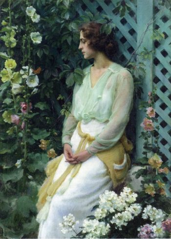 Green Lattice | Charles Courtney Curran | oil painting