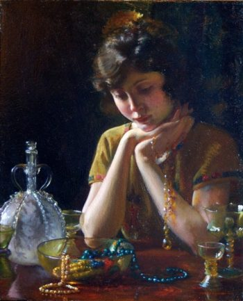 Heirlooms | Charles Courtney Curran | oil painting