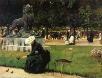 In the Luxembourg Garden | Charles Courtney Curran | oil painting