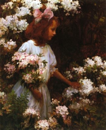 Jane Huntington McKelvey | Charles Courtney Curran | oil painting