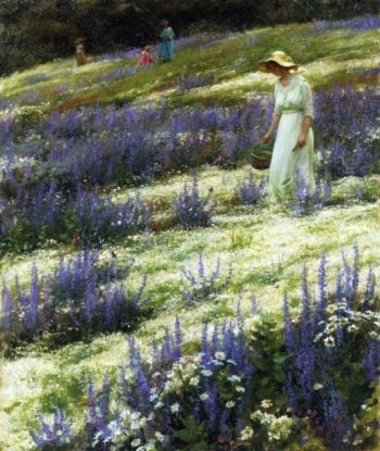 Ladies on a Hill | Charles Courtney Curran | oil painting