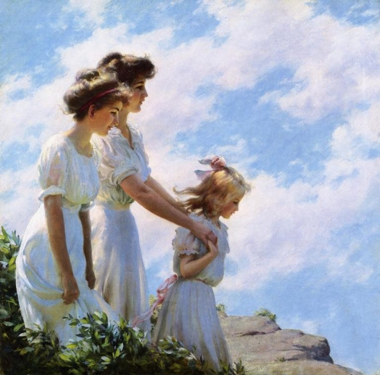 On the Cliff | Charles Courtney Curran | oil painting