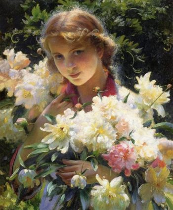 Peonies | Charles Courtney Curran | oil painting