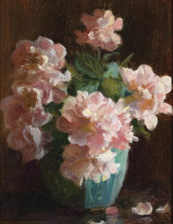 Pink roses | Charles Courtney Curran | oil painting