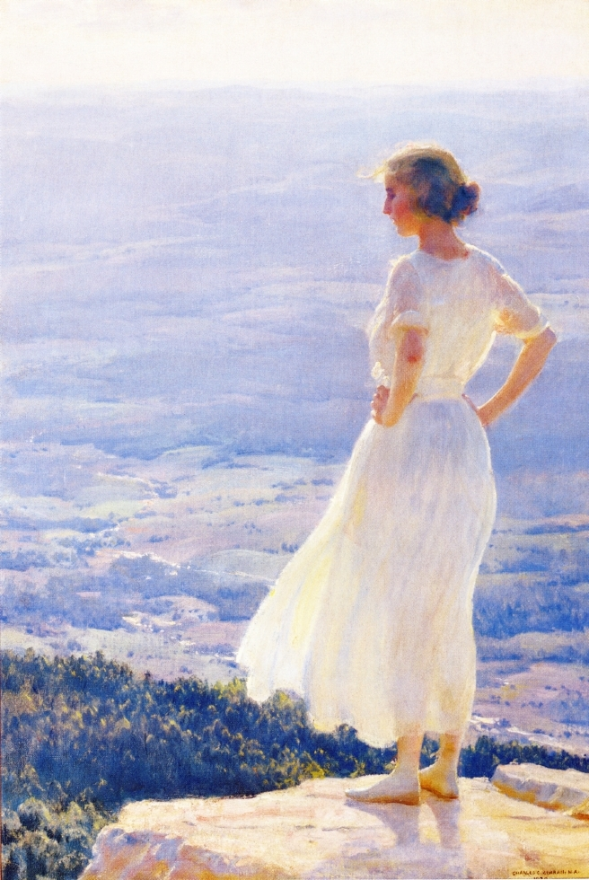 Sunlit Valley | Charles Courtney Curran | oil painting