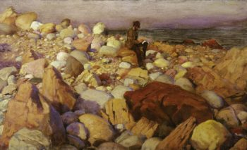 The Artist At Work   Charles Courtney Curran   oil painting