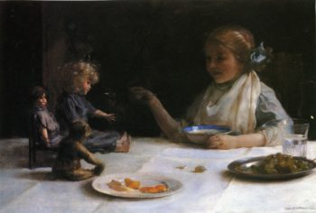The Breakfast Party | Charles Courtney Curran | oil painting