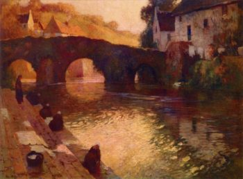 Washerwomen of Quimperle | Georges Ames Aldrich | oil painting