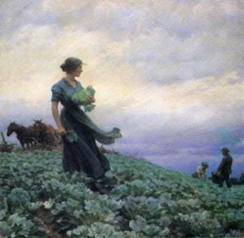 The Cabbage Field | Charles Courtney Curran | oil painting