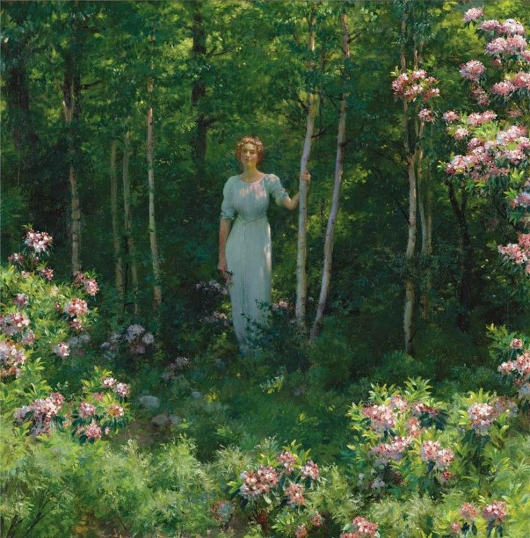 The Edge of the Woods | Charles Courtney Curran | oil painting