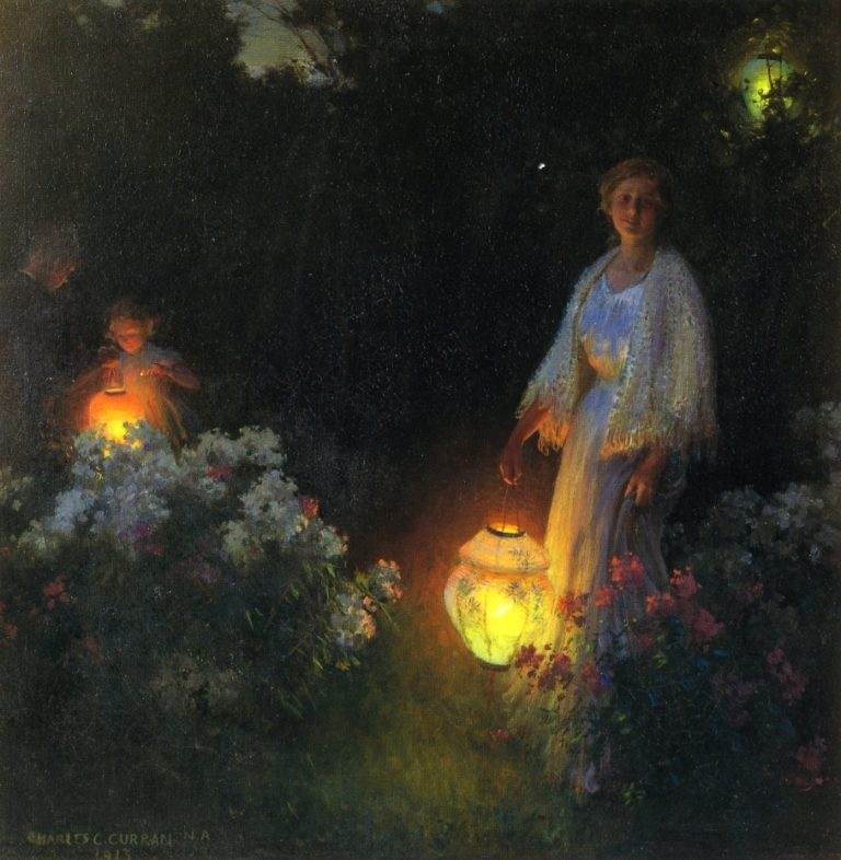 The Lanterns | Charles Courtney Curran | oil painting