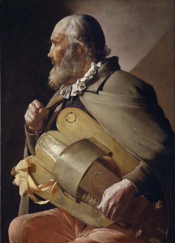 Blind Hurdy Gurdy Player | Georges de la Tour | oil painting