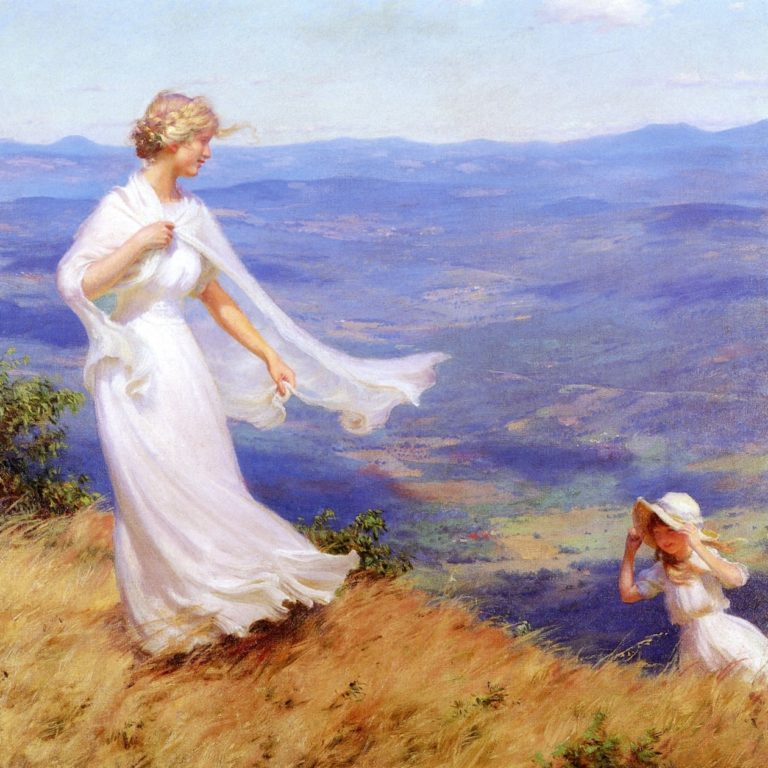 The West Wind | Charles Courtney Curran | oil painting