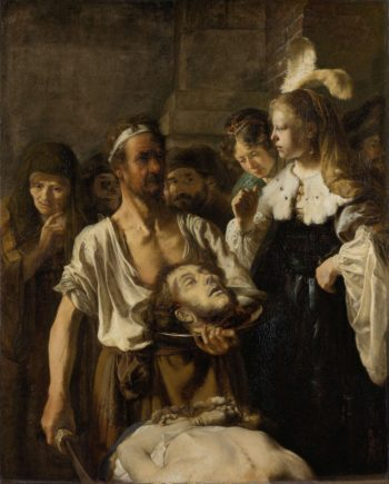 The Beheading of John the Baptist. ca. 1640 - ca. 1645 | Rembrandt Harmensz. van Rijn | oil painting