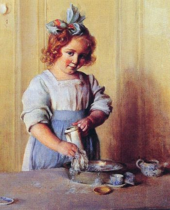 Washing Dishes | Charles Courtney Curran | oil painting