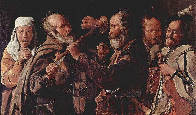 The Hurdy Gurdy   Georges de la Tour   oil painting