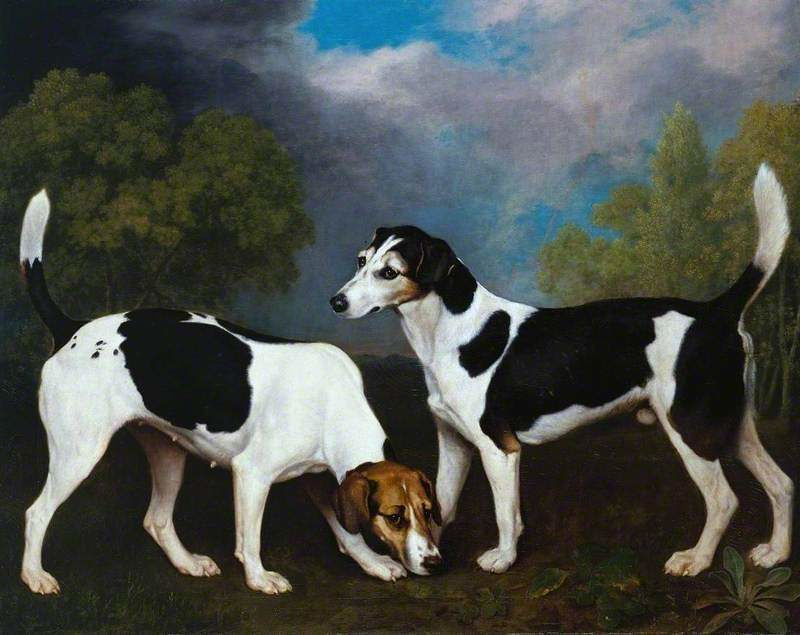 A Couple of Foxhounds | George Stubbs | oil painting