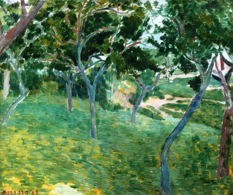 A Corner of the Bois d'Amour in Pont Aven   Emile Bernard   oil painting