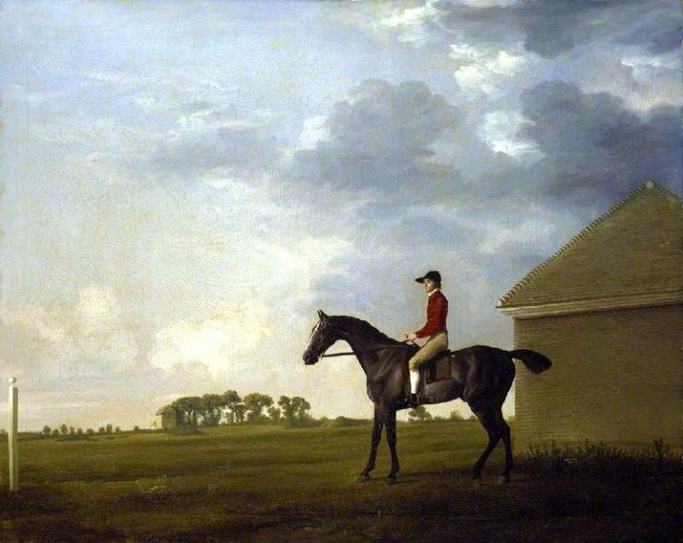 Gimcrack with John Pratt up on Newmarket Heath | George Stubbs | oil painting