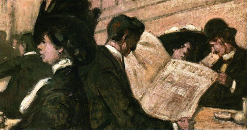At the Cafe de la Paix | Emile Bernard | oil painting
