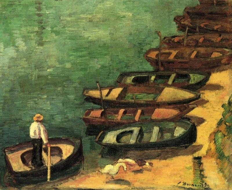 Boats at Pont Aven | Emile Bernard | oil painting