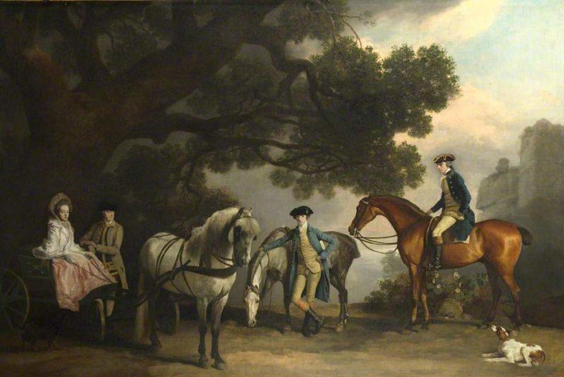 Mr Milbanke and Melbourne Families | George Stubbs | oil painting