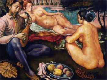 Court of Love | Emile Bernard | oil painting