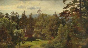 Berg Study | Hans Fredrik Gude | oil painting