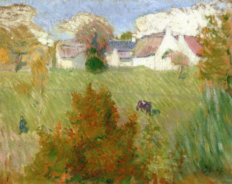Farm in Pont Aven | Emile Bernard | oil painting