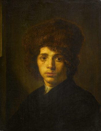 Young man with fur hat. ca. 1635 - ca. 1640 | David Bailly | oil painting