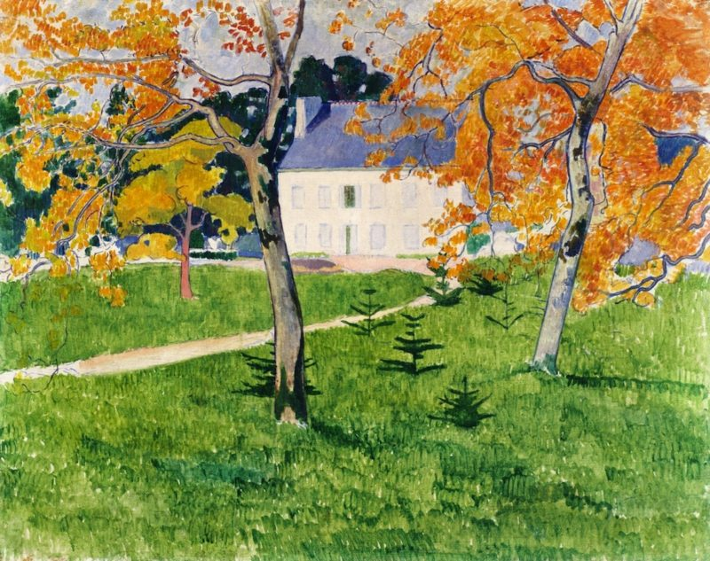 House among Trees Pont Aven | Emile Bernard | oil painting