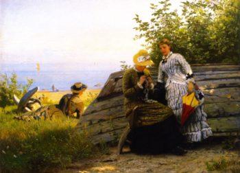 Ladies in the Sunshine | Hans Fredrik Gude | oil painting