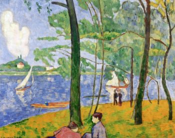 La Grande Jatte in Spring | Emile Bernard | oil painting